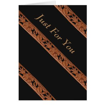 Western Tooled Leather Belt Print Card