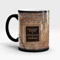 Color Changing Harry Potter Mug, Marauders Map Magical Coffee Mug, I Solemnly Swear I'm Up To No Good, Unique gift