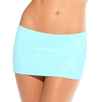 Scrunch Back Mini Skirt (One Size,Neon Pink)