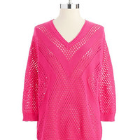 Two By Vince Camuto Open Knit Sweater