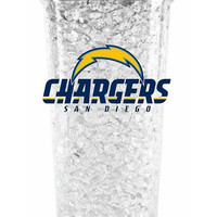 Duckhouse Crystal Tumbler With Straw - San Diego Chargers