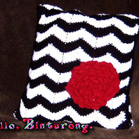 Chevron Flower Pillow