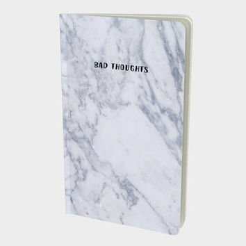 Bad Thoughts Marble Notebook / Sketchbook / Journal by Midnight & Vine
