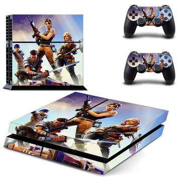 Sticker Cover For PS4 Console and 2pc Controller Decal Skin For Dual Shock 4 Joypad Vinyl For PlayStation 4 Accessories