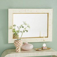 Modern Inlay Rectangular Mirror