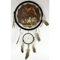 "DreamCatcher-- Choose Your Style & Color!!-- Handcrafted High Quality DreamCatcher!! (Diameter 13"", Dreamcatcher Horses Running)"