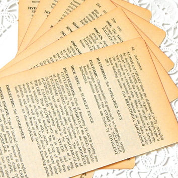 Vintage Science Dictionary Pages. Paper Ephemera. Vintage Books. Science Book. Definition. Old Book Pages. Junk Journal Paper. Mixed Media.