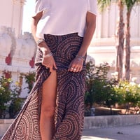 Leone Maxi Skirt in Dreamcatcher | Lace & Whiskey Clothing | Bohemian Inspired Dresses, Rompers, Tops, Shorts, Cardigans, and More
