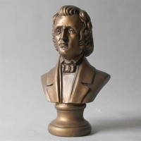 Chopin Composer Bust, Small 11H - 7654