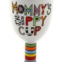 Mommy's Sippy Cup Wine Goblet | Baby Shower Gift, Funny Mom Gift, Mothers Day Gift, Wine Goblet, Cute New Mom Gift | Catching Fireflies