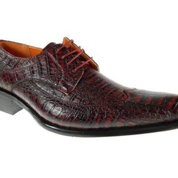 Ferro Aldo Men 109060 Faux Alligator Skin Oxford Shoes