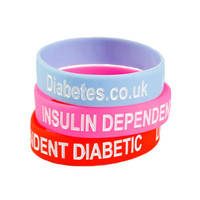 Insulin Dependent Diabetic Silicone Wristband - Toddler (3 Colours)