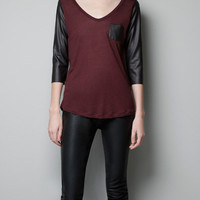 COMBINED T-SHIRT - Woman - New this week - ZARA United States