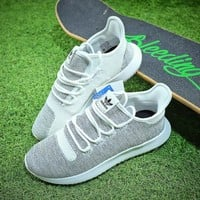 Adidas Tubular Shadow Knit Yeezy 350 Grey White Sport Running Shoes - Best Online Sale