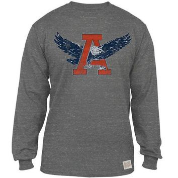 PEAPGQ9 Auburn Tigers - Giant A War Eagle Tri-Blend Adult Long Sleeve T-Shirt