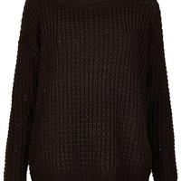 Knitted Chunky Jumper - Knitwear - Clothing - Topshop USA