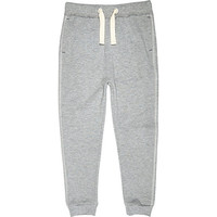 River Island Boys grey jersey joggers