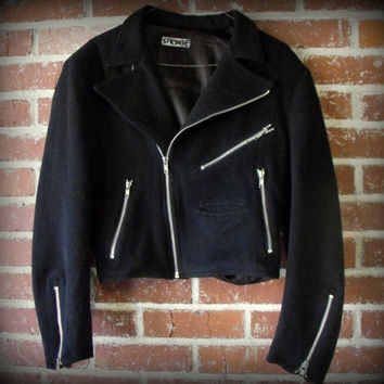 RARE 1980's Couture Stephen Sprouse Black Wool by TrueBlueDryGoods