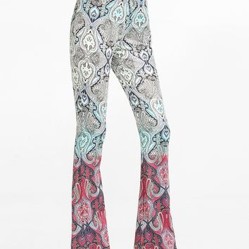 Streetstyle  Casual Printed Flared Casual-pants