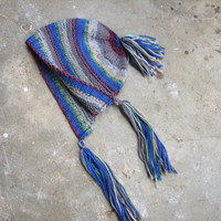 Baby bonnet, hat with tassels, choose only hat or hat with socks, sizes: newborn, 2-6 month, 6-18 month