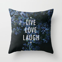 Live Throw Pillow by Sandra Arduini | Society6
