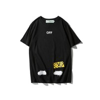 Cheap Women's and men's OFF WHITE t shirt for sale 501965868-013