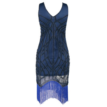 Sexy Sequined Tassel Beach Party Dress