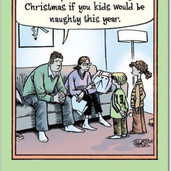 12 Help Financially Christmas Cartoon Humorous Christmas Greeting Cards with Envelopes