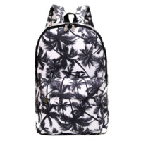 Canvas Palm Tree School Backpack Daypack Travel Bag