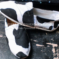 Holstein Cow pattern Painted on YOUR TOMS by dreaminbohemian