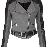 **Layzee Biker Jacket by Goldie - Jackets & Coats - Clothing - Topshop
