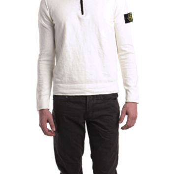 Stone Island Double Zip Hoody in White