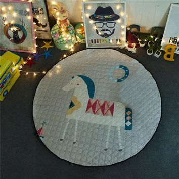 Round Crawling Rug Toys Floor Play Game Mat