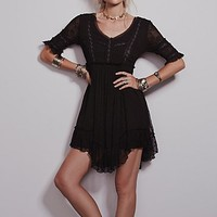 Free People Womens Little Dot Mini Dress