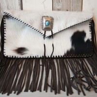 Envelope Fringe Purse