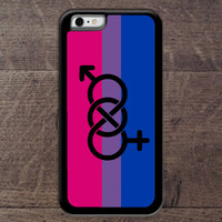 Bi sexual Pride flag w/symbol phone case