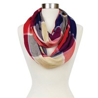 Women's Plaid Woven Infinity Scarf