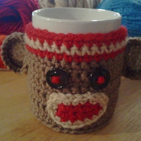 Sock Monkey Cup/Mug Cozy
