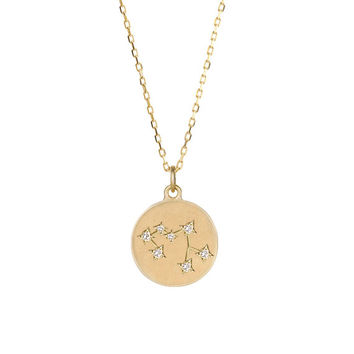 sagittarius necklace, sagittarius zodiac constellation necklace, 14k gold, star constellation necklace, personalized necklace