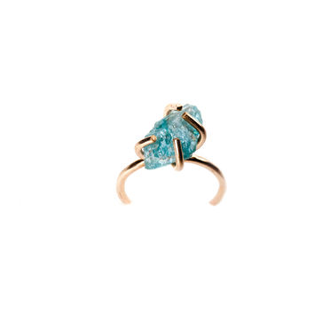 Stone Prong Ring - Apatite