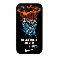 Nike Basketball Never Stops Basket Ring iPhone 4s Case