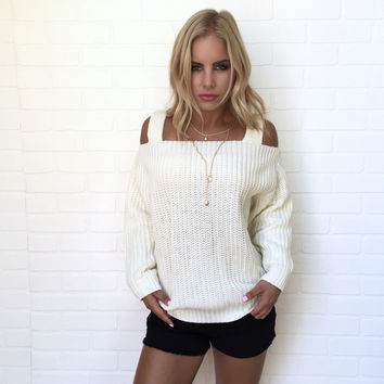Minor League Knit Sweater In Ivory