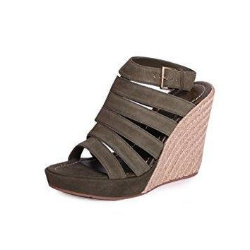 Tory Burch Bailey Strappy Wedge Sandals, Banana Leaf