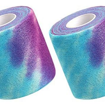 Pre-wrap Tie-Dye 2-pack Purple and Blue/Teal 20 Yard Rolls for Headbands