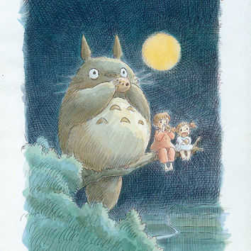 Totoro 11x17 Movie Poster (1988)
