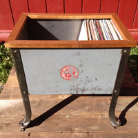 "Repurposed 12"" Vinyl Record Display Cabinet"
