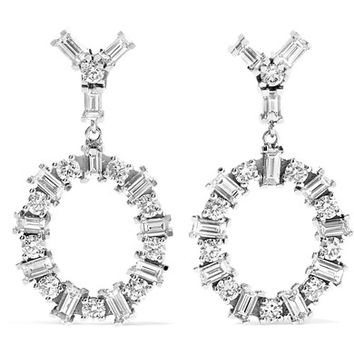 Ileana Makri - Again 18-karat white gold diamond earrings