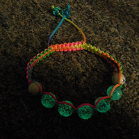 Glow in the Dark Shamballa inspired bracelet Children Fashion Rave Jewelry