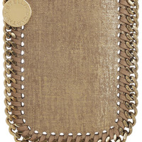 Stella McCartney|Falabella faux brushed-leather iPhone 4 sleeve|NET-A-PORTER.COM