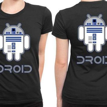 ESBH9S Star Wars Robot An Droid 2 Sided Womens T Shirt